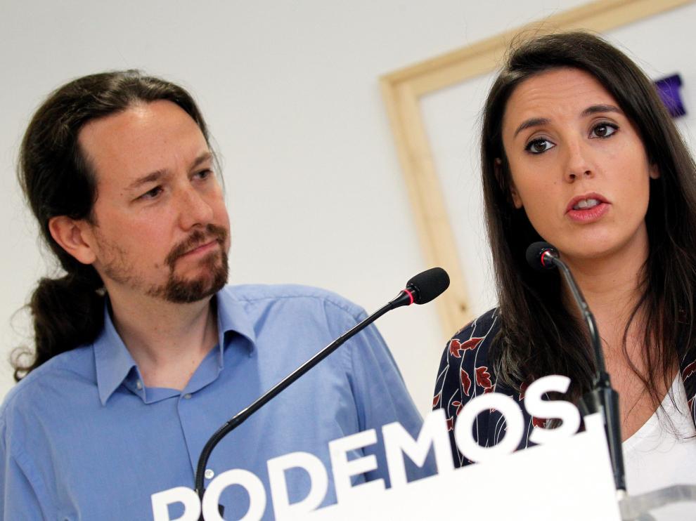 Pablo Iglesias y su pareja, Irene Montero.