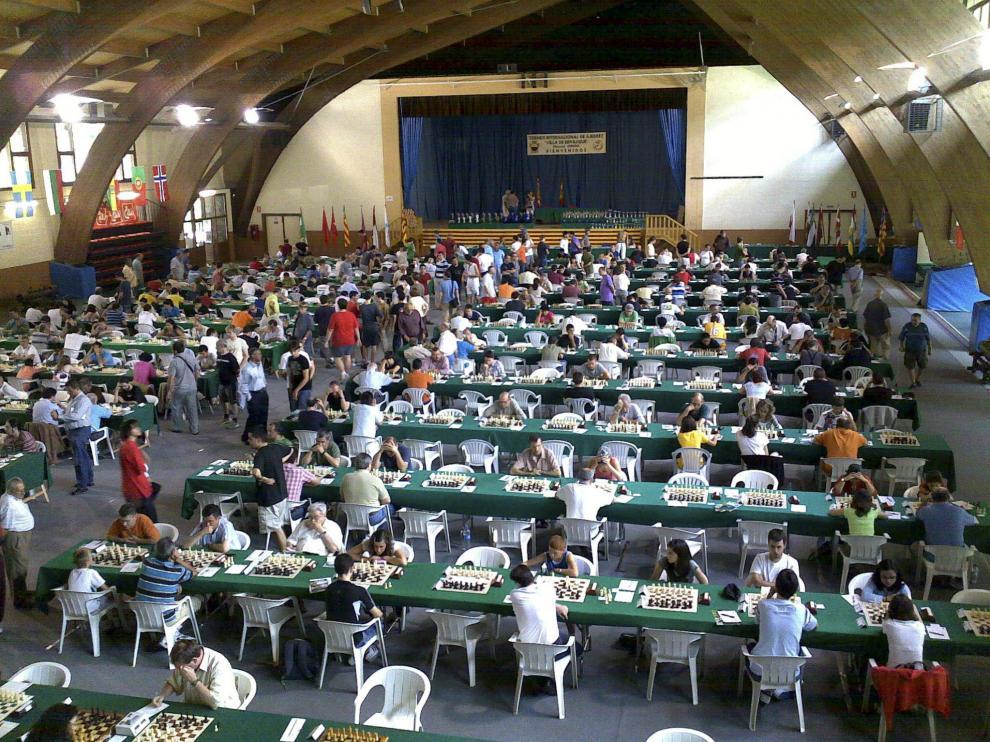 Las partidas de ajedrez congregan todos los años en Benasque a profesionales y aficionados.