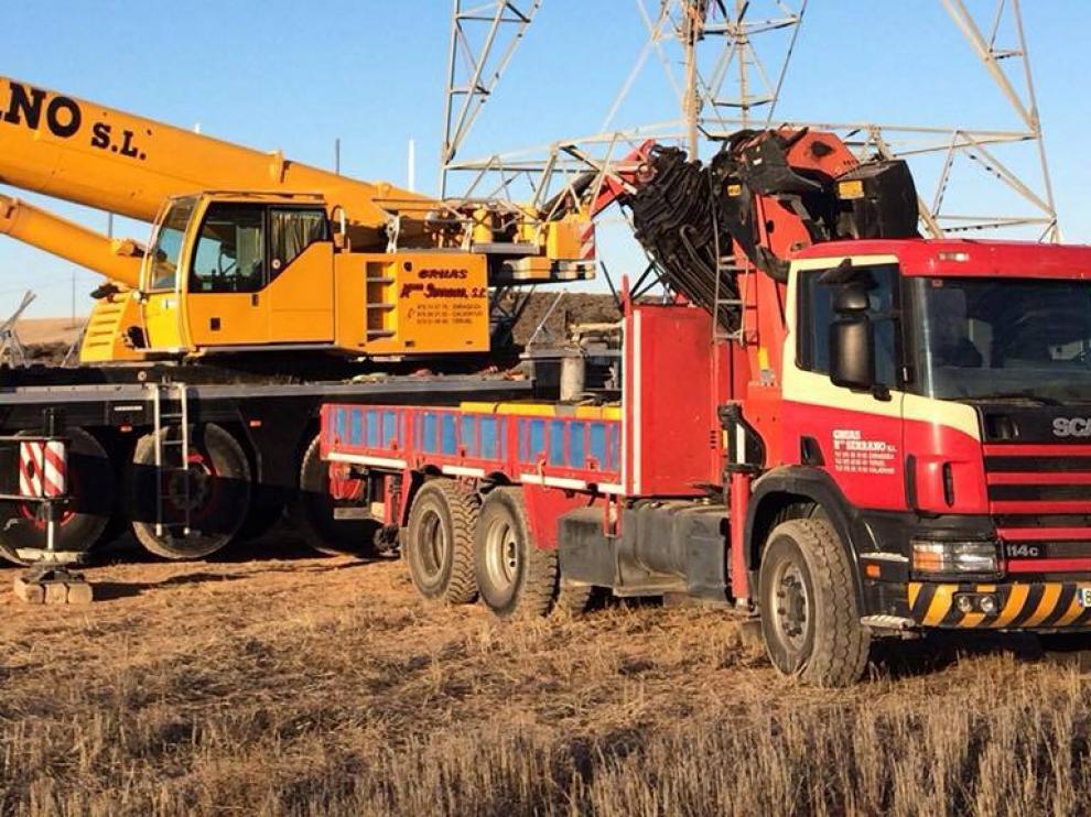 Imagen del camión sustraído el pasado fin de semana en las obras de Torre Village.