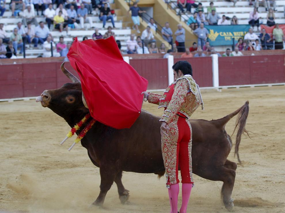 Sergio Cerezos, en una de sus actuaciones en Teruel.
