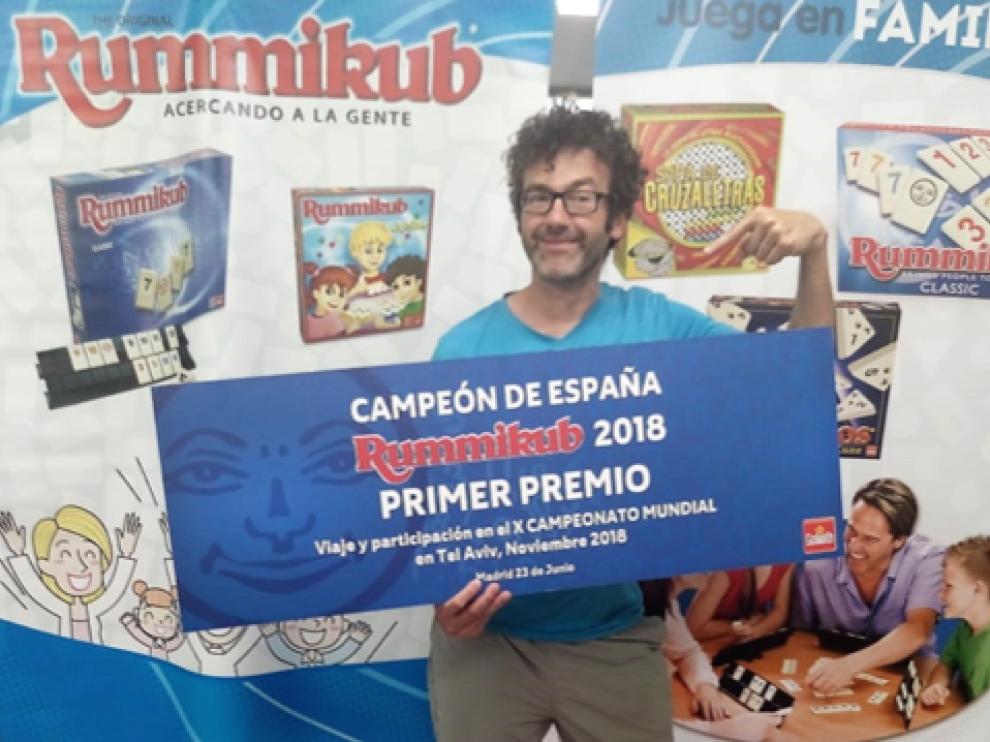 Luis Manuel Mateo, tras proclamarse campeón de España de Rummikub