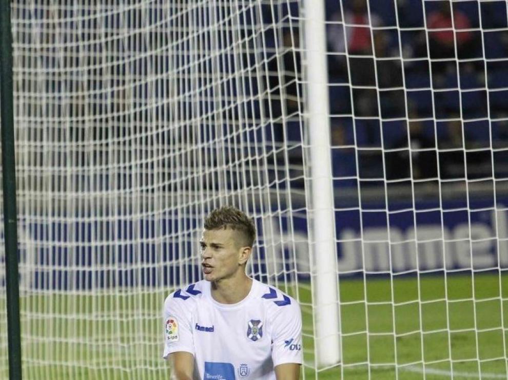 Samuele Longo, durante un partido con el Tenerife.
