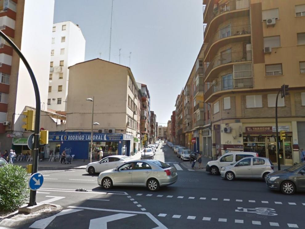 Confluencia de las calles Rioja y Lastanosa