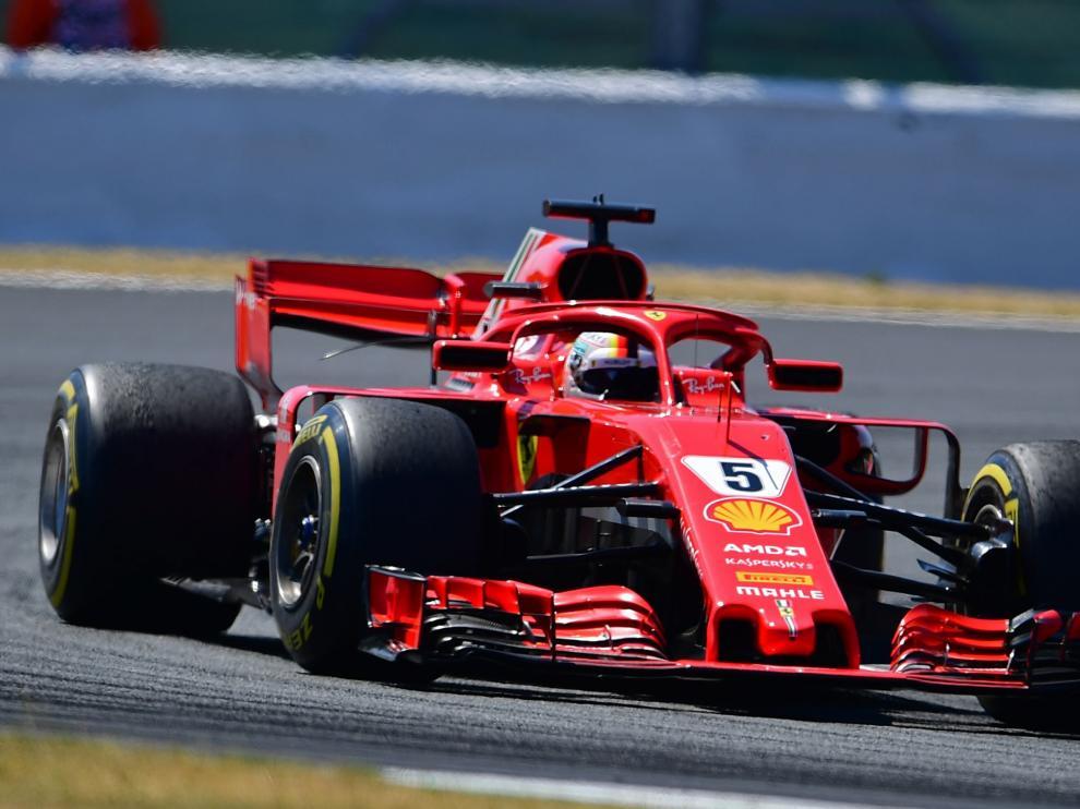 Vettel, en Silverstone.