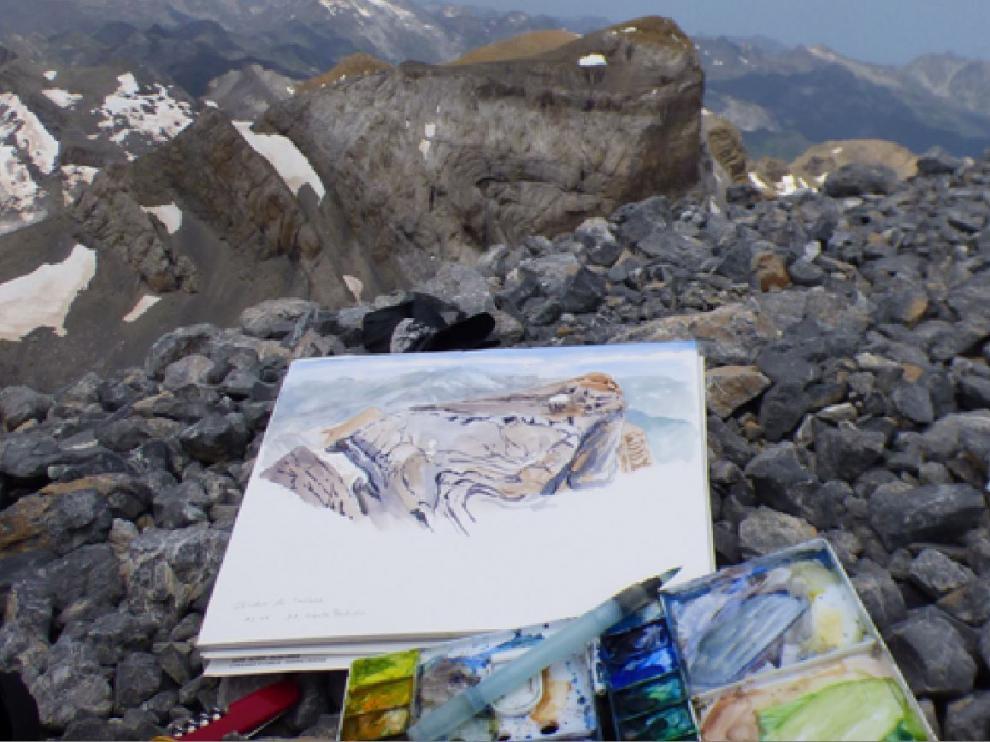 Encuentros con dibujantes de naturaleza, en el Parque Nacional de Ordesa y Monte Perdido.