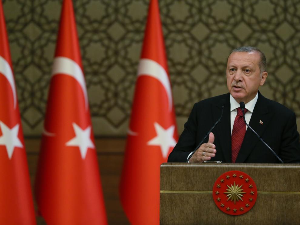 Recep Tayyip Erdogan, presidente de Turquía con poderes ejecutivos.