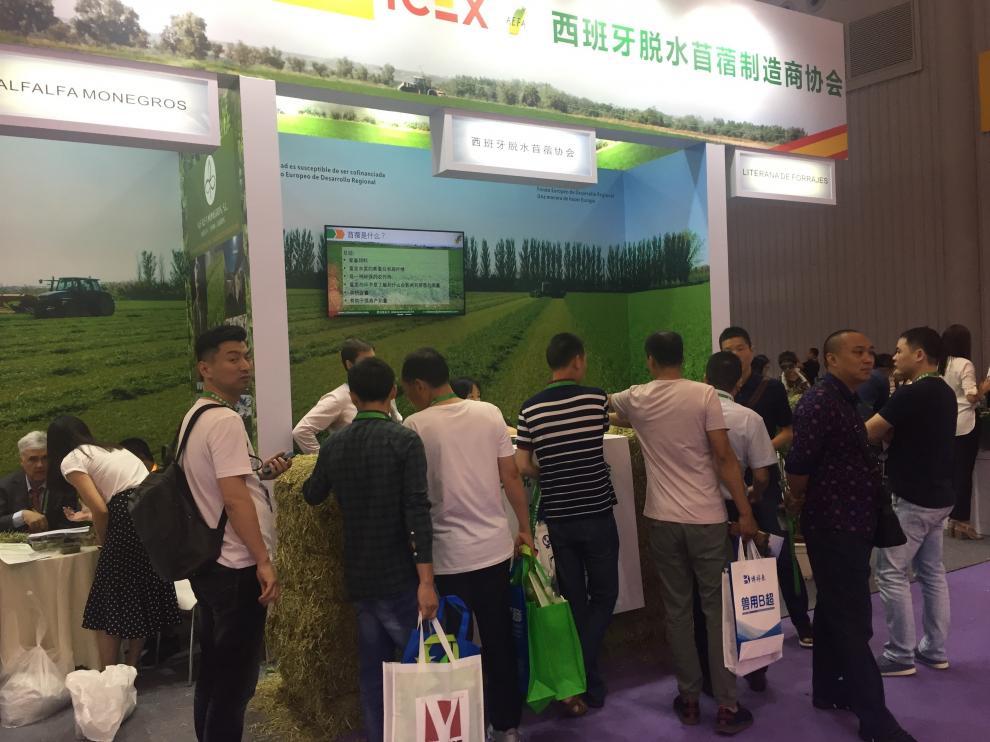 Numeroso público se interesó por el producto español en la feria celebrada en China