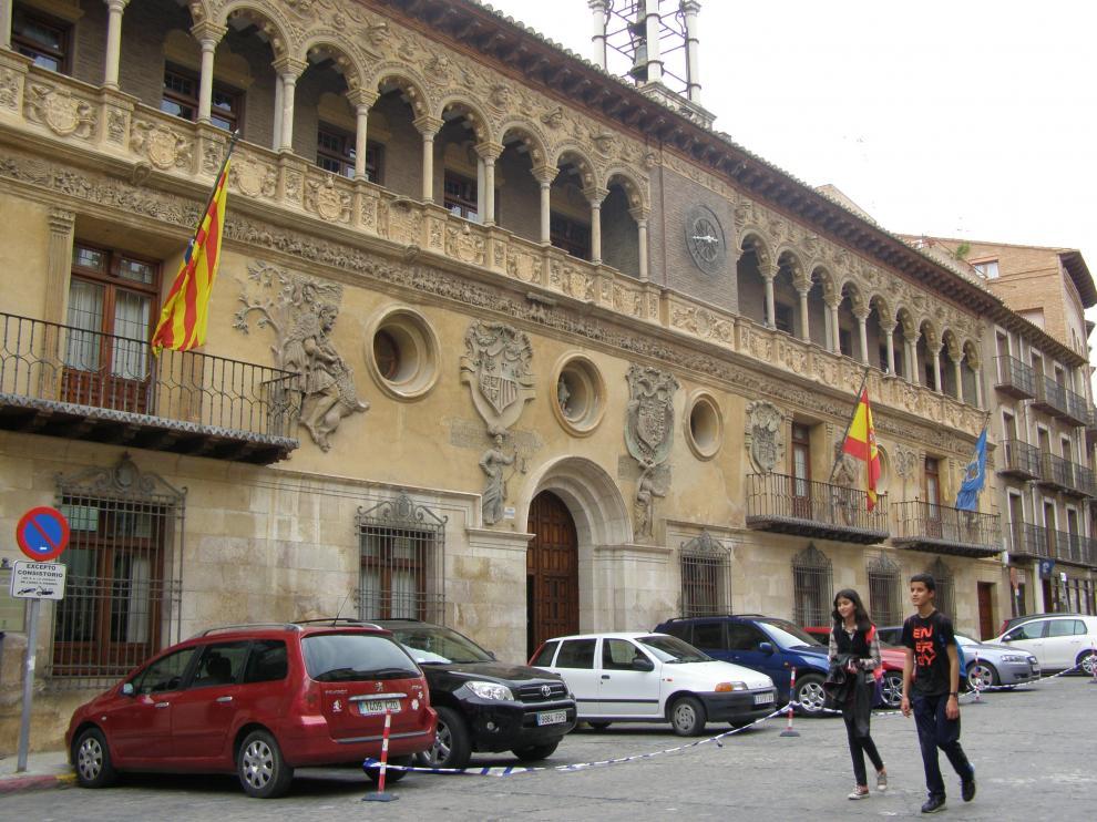 Fachada del ayuntamiento renacentista de Tarazona.