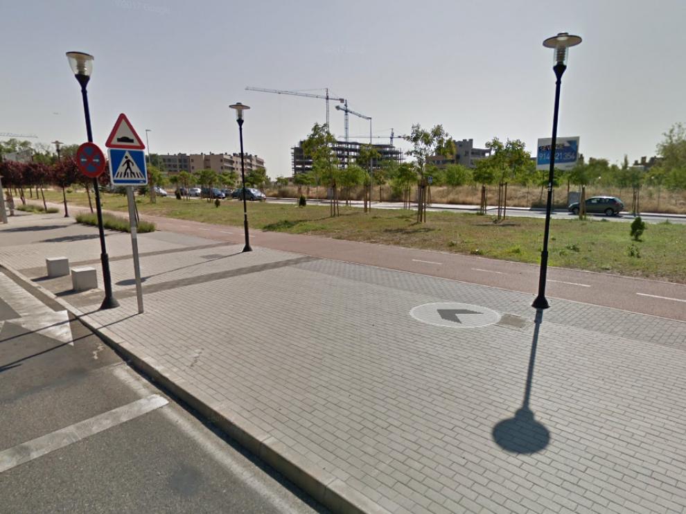 Paseo Europa en San Sebastián de los Retyes, lugar del asesinato