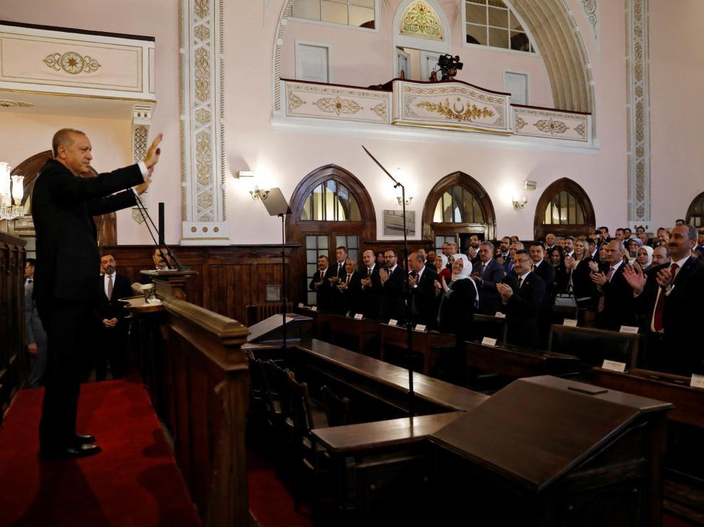 Tayyip Erdogan, en una reunión del Consejo de Ministros de Turquía