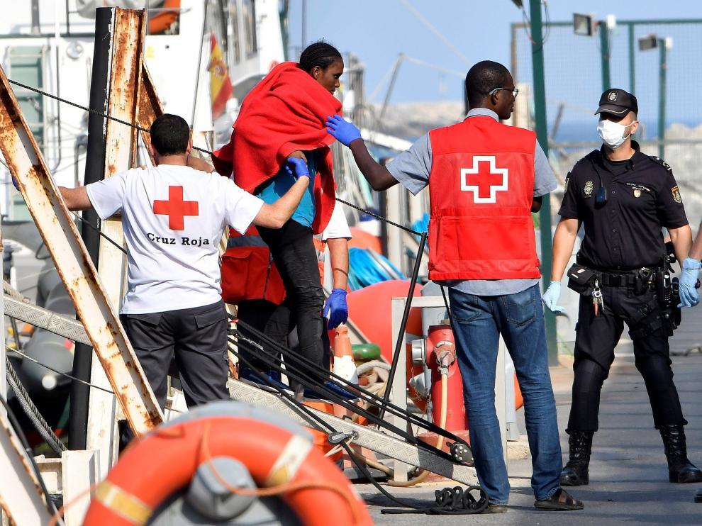 Llegada de inmigrantes a Almería.