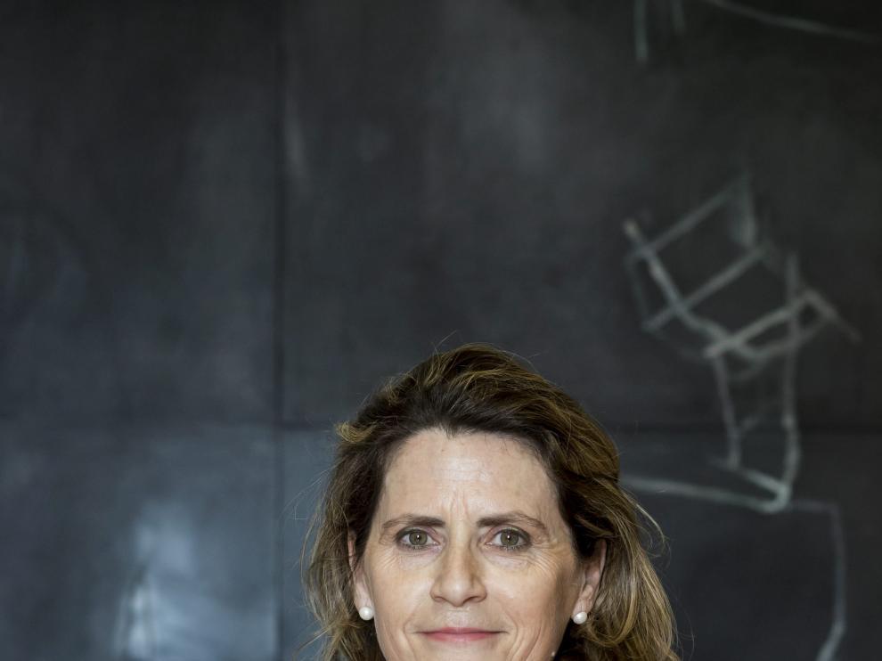 Pilar Jurado, en la Cámara de Comercio de Zaragoza, el pasado martes.