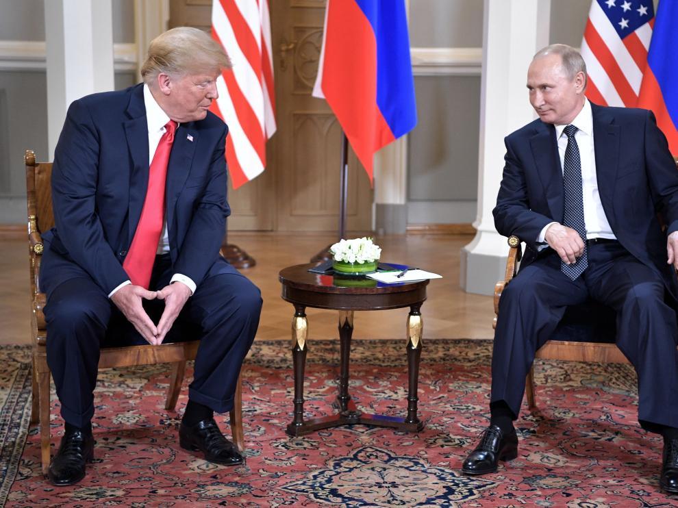 Trump y Putin en una imagen de archivo.