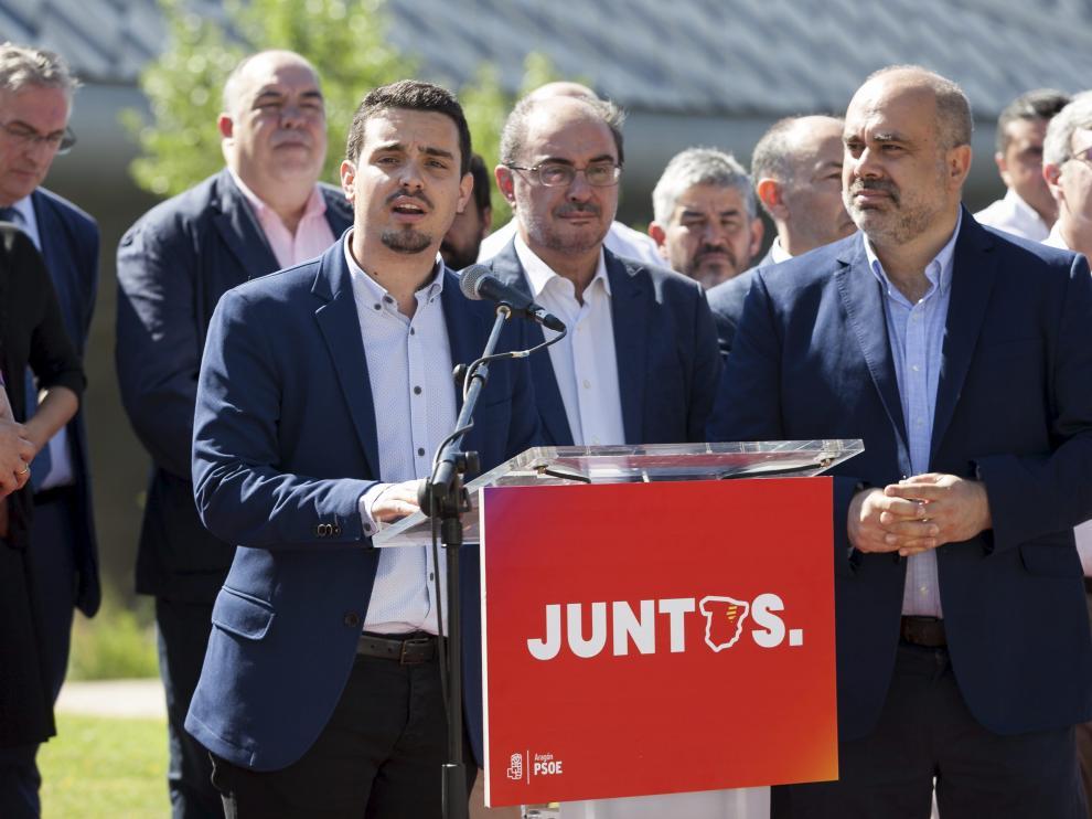 Villagrasa, durante su intervención en la presentación de la Conferencia Política del PSOE-Aragón