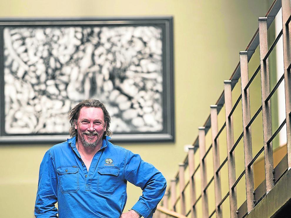 Darren J. Doherty, durante su visita a la capital aragonesa, donde ofreció una 'masterclass'.