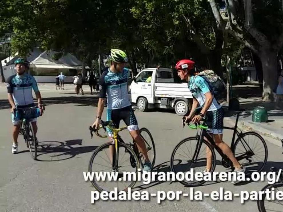 De Zaragoza a Innsbruck en bici contra el ELA