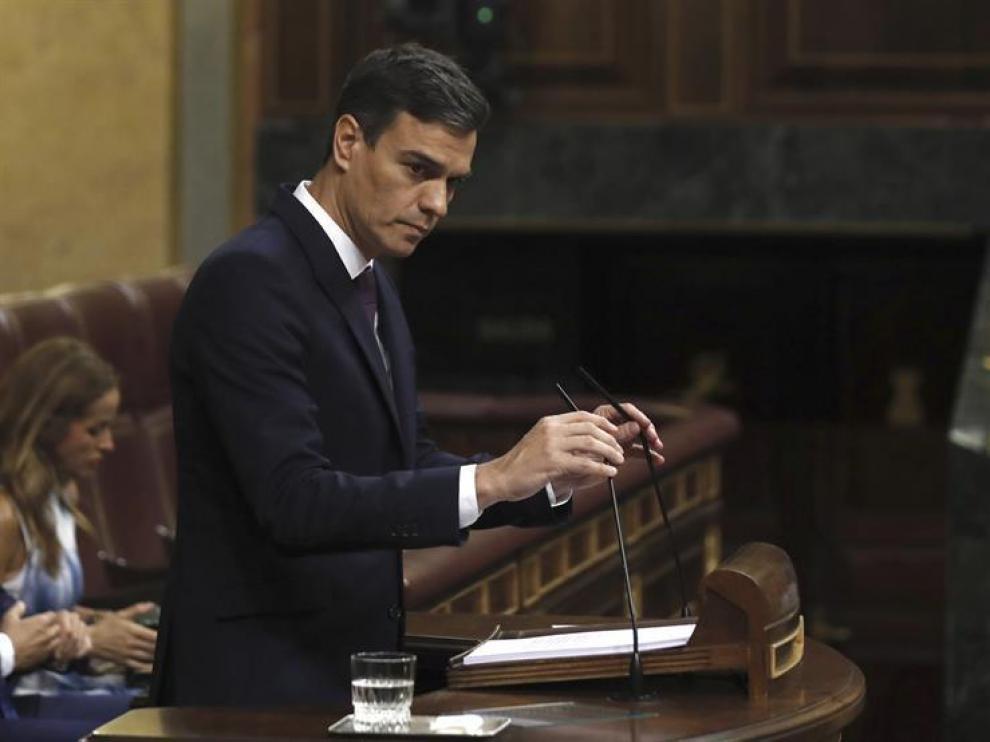 Pedro Sánchez presenta en el Congreso su programa de Gobierno