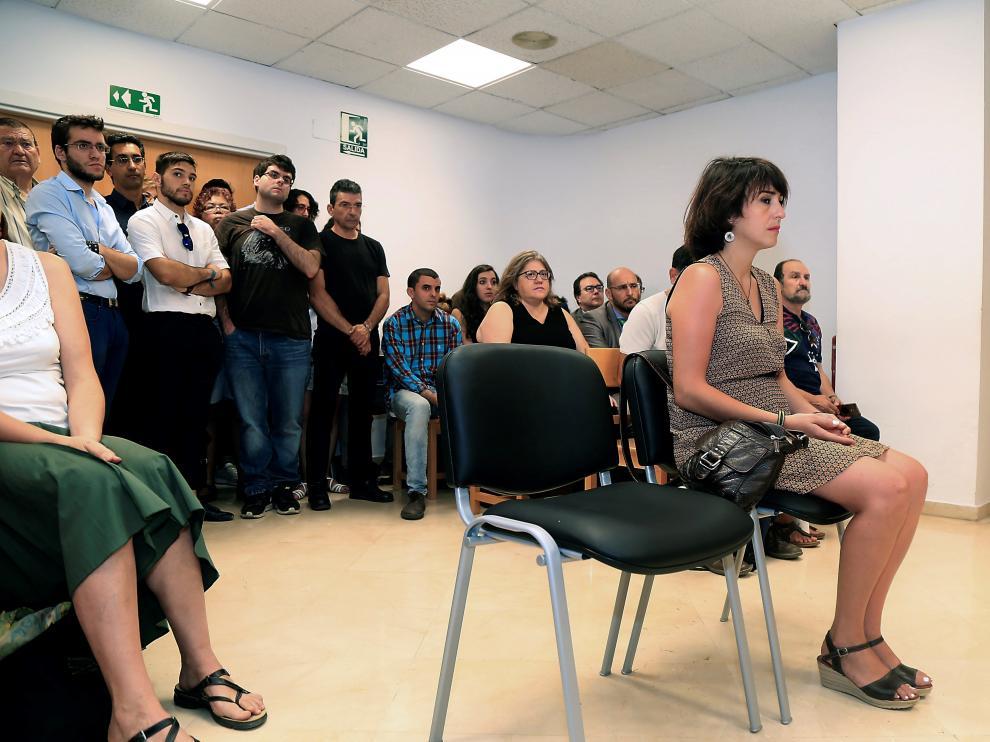 Juana Rivas en el juzgado de lo Penal I de Granada