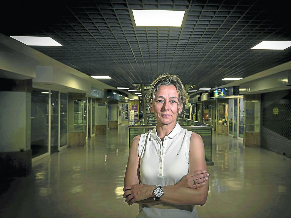 María Pilar Pina, hace unos días en Zaragoza.