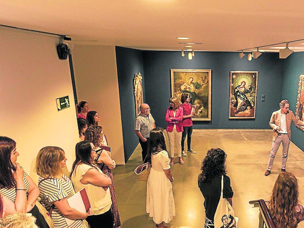 Sala de exposiciones de la Diputación Provincial.
