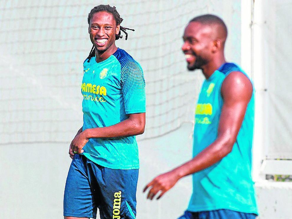 Semedo durante un entrenamiento con el Villarreal.