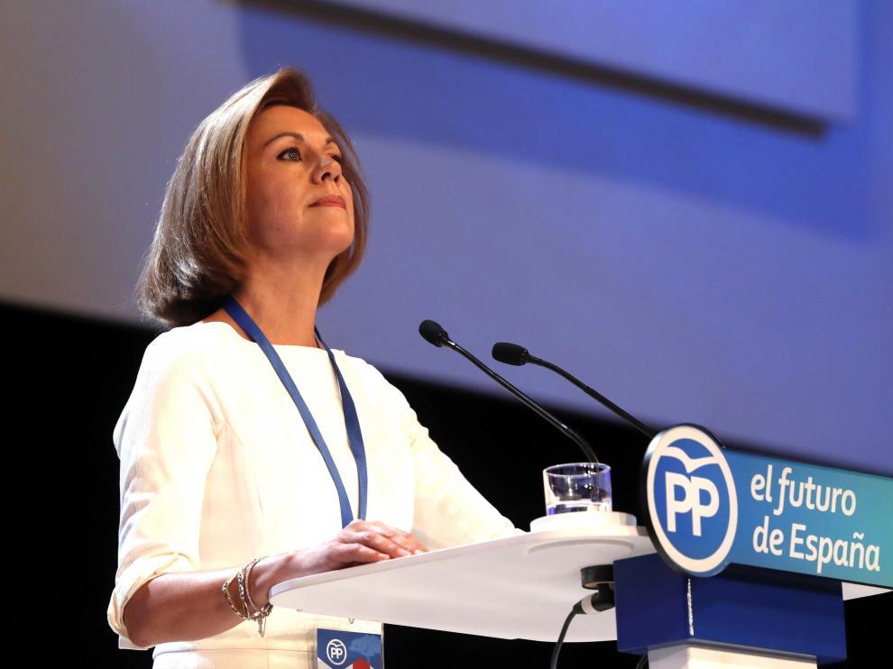 María Dolores de Cospedal, durante el Congreso Nacional del PP.