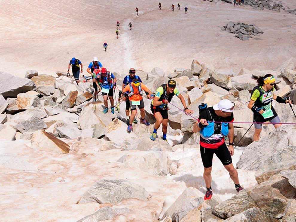 Imagen de la sexta edición del Gran Trail Aneto-Posets que ha vencido Javi Domínguez.