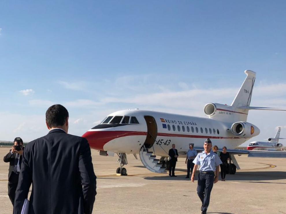 Falcon 900, avión oficial del presidente del Gobierno.