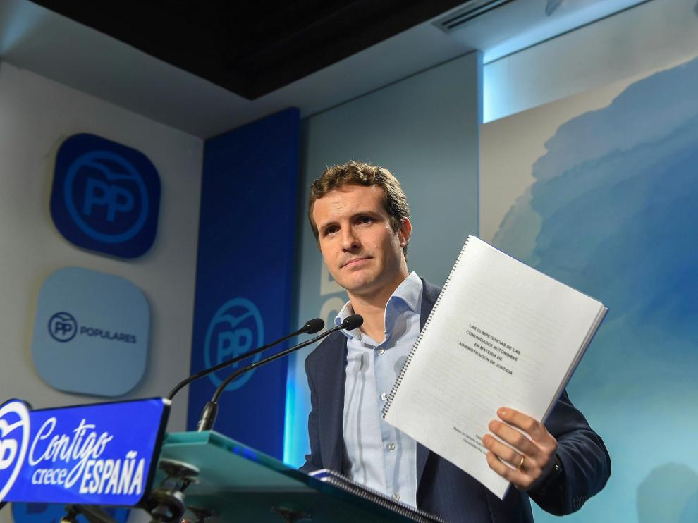 Pablo Casado presentó en abril la documentación de su máster en la Universidad Rey Juan Carlos