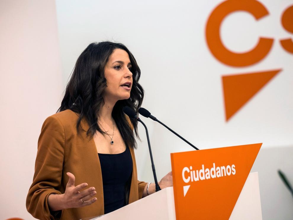 La líder de Ciduadanos en Cataluña, Inés Arrimadas.