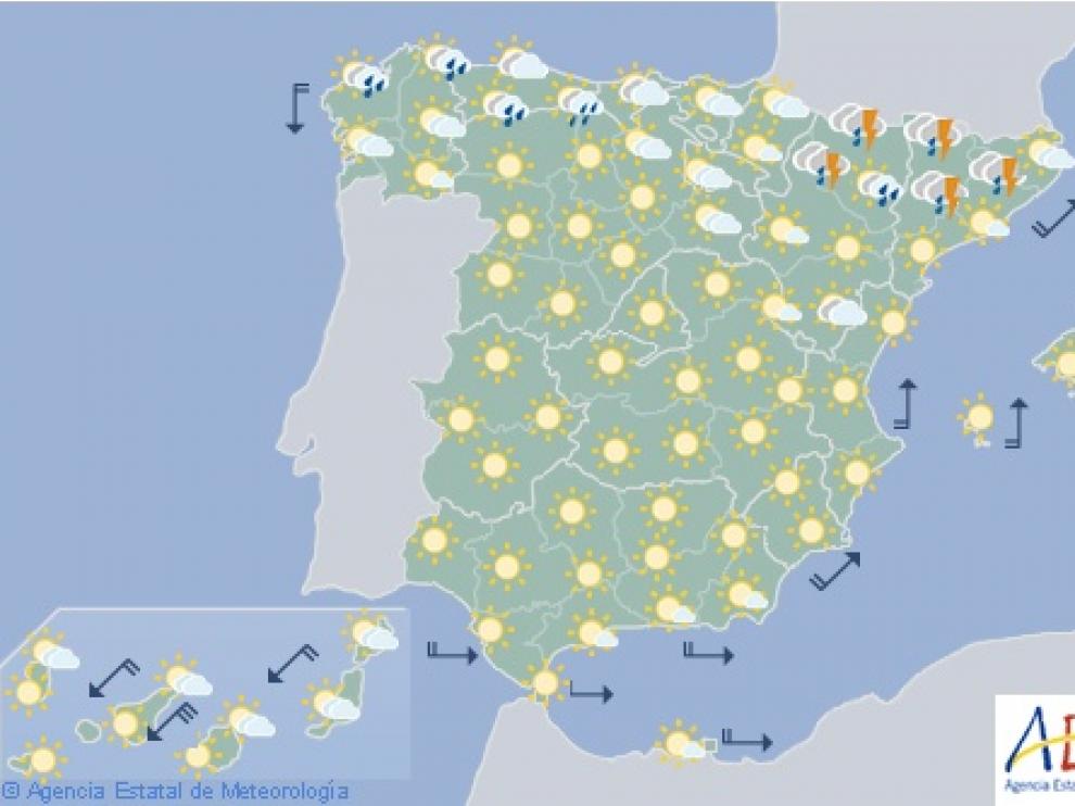 Predicción para este martes en España