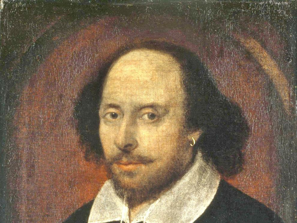 William Shakespeare, en el retrato atribuido a Chandos.