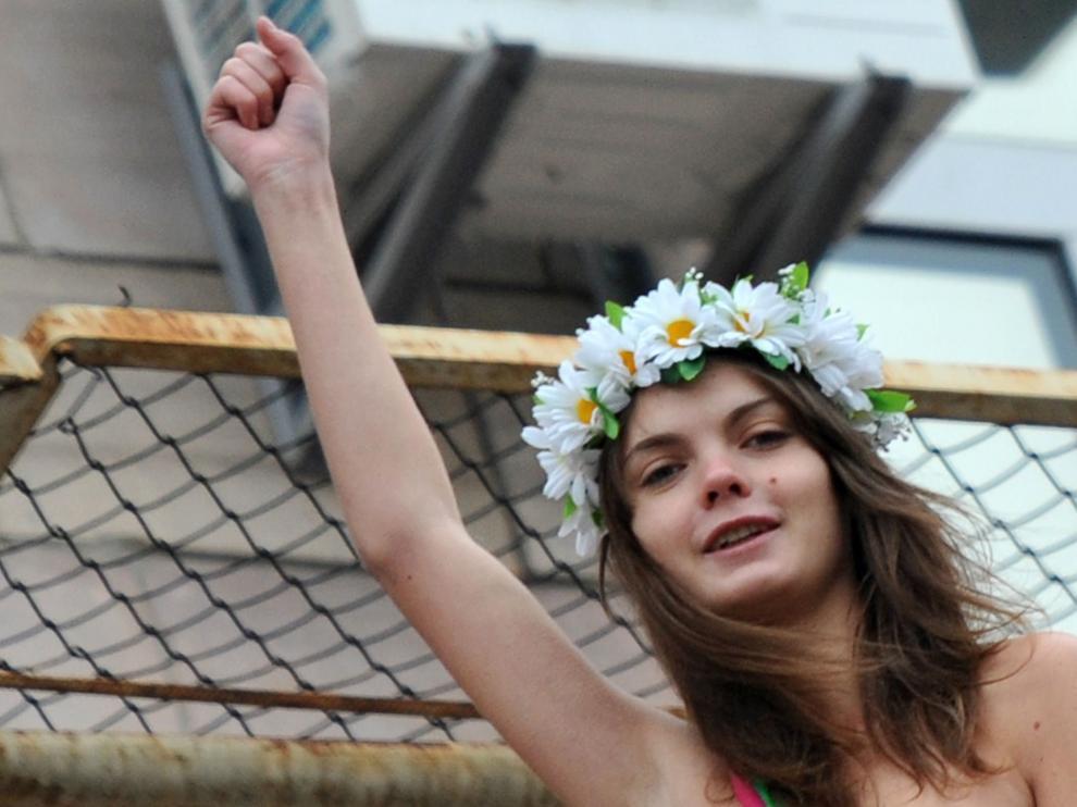 La activista feminista Oksana Shachko, en una imagen de archivo.