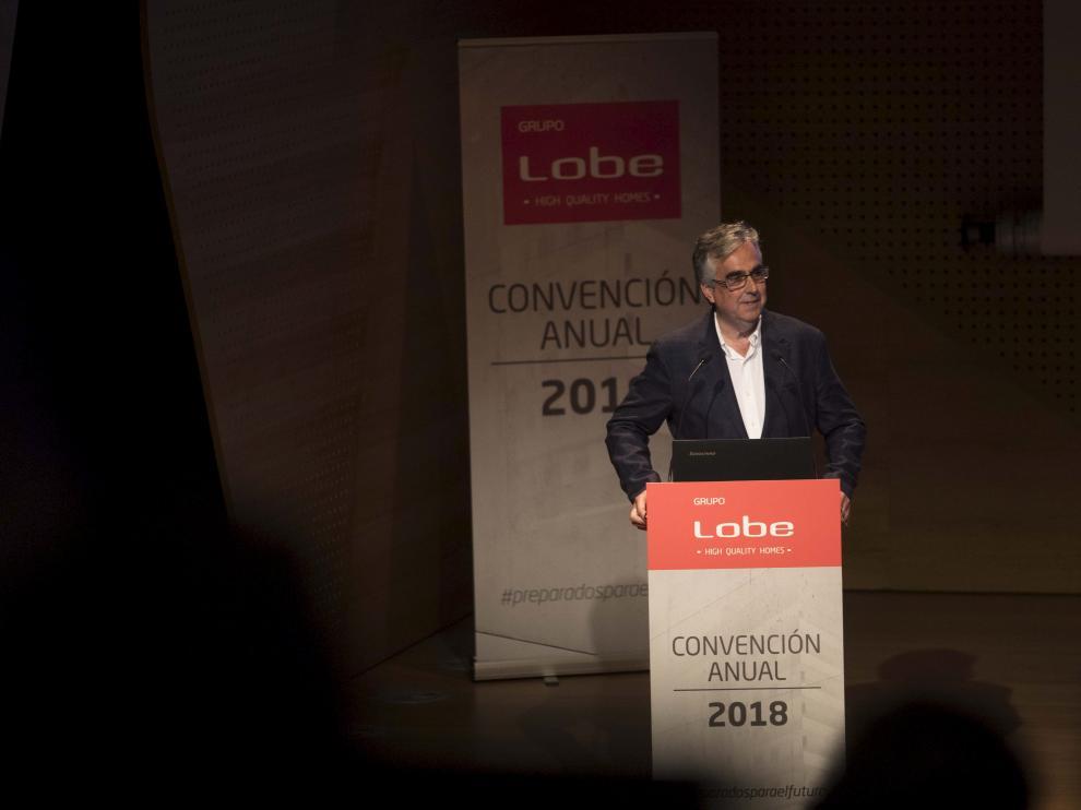 El director general de Grupo Lobe, Juan Carlos Bandrés, este viernes durante la presentación de resultados en Zaragoza.