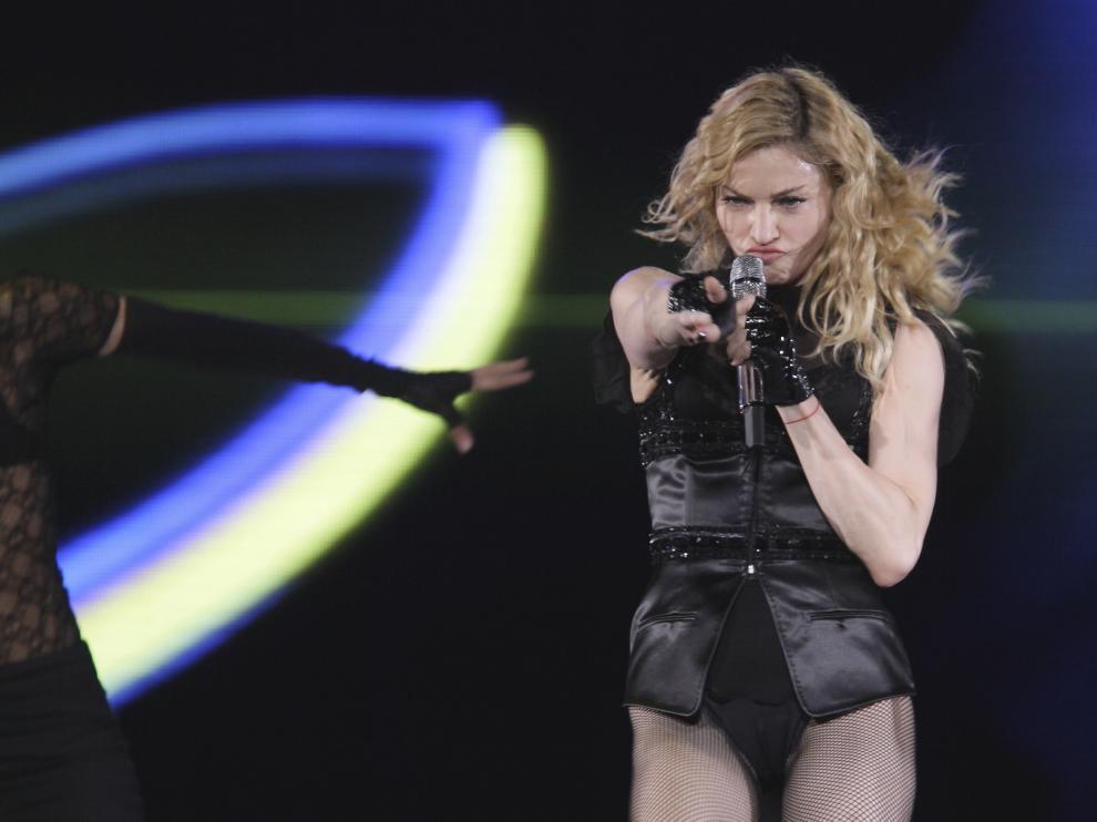 En 2009, Madonna actuó en Zaragoza, con la gira 'Sticky & Sweet Tour'.