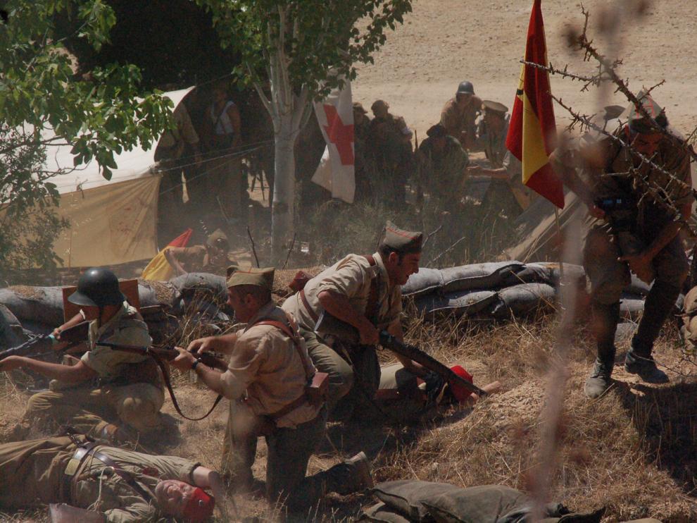 XI Recreación del inicio de la Batalla del Ebro en Fayón