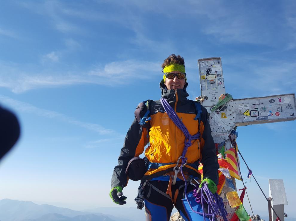 Chemary Carrera Pons en la cima del pico Aneto esta misma semana
