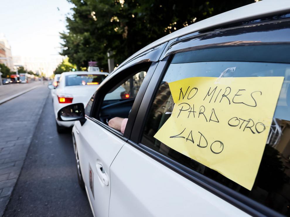 Un taxi en huelga.