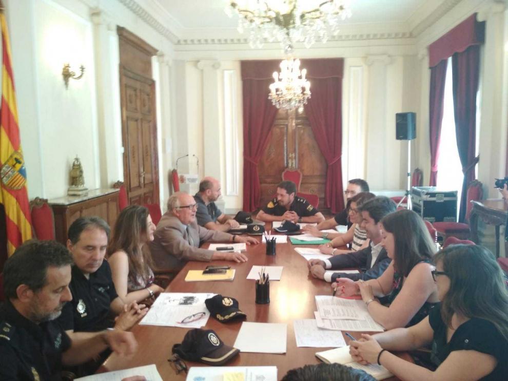 Reunión de la Junta de Seguridad Local para estudiar el dispositivo de las Fiestas de San Lorenzo