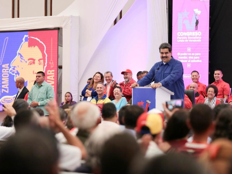 Nicolás Maduro, durante una sesión plenaria del PSUV.