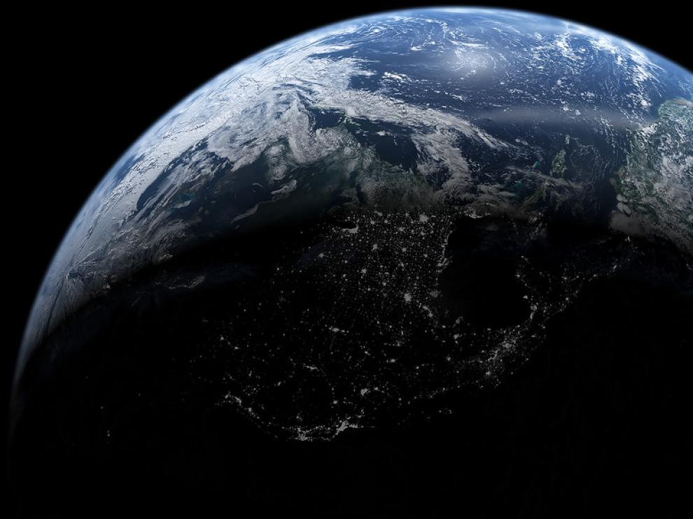 Foto de archivo de la Tierra.