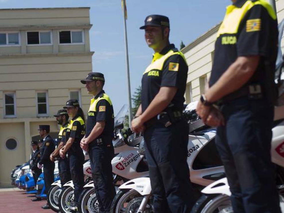 La Policía Local de Zaragoza, en la celebración del día de su patrona.