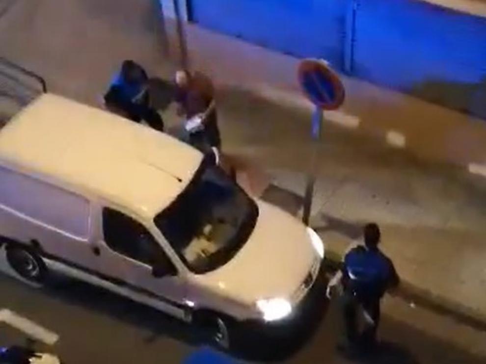 Momento de la detención del infractor.