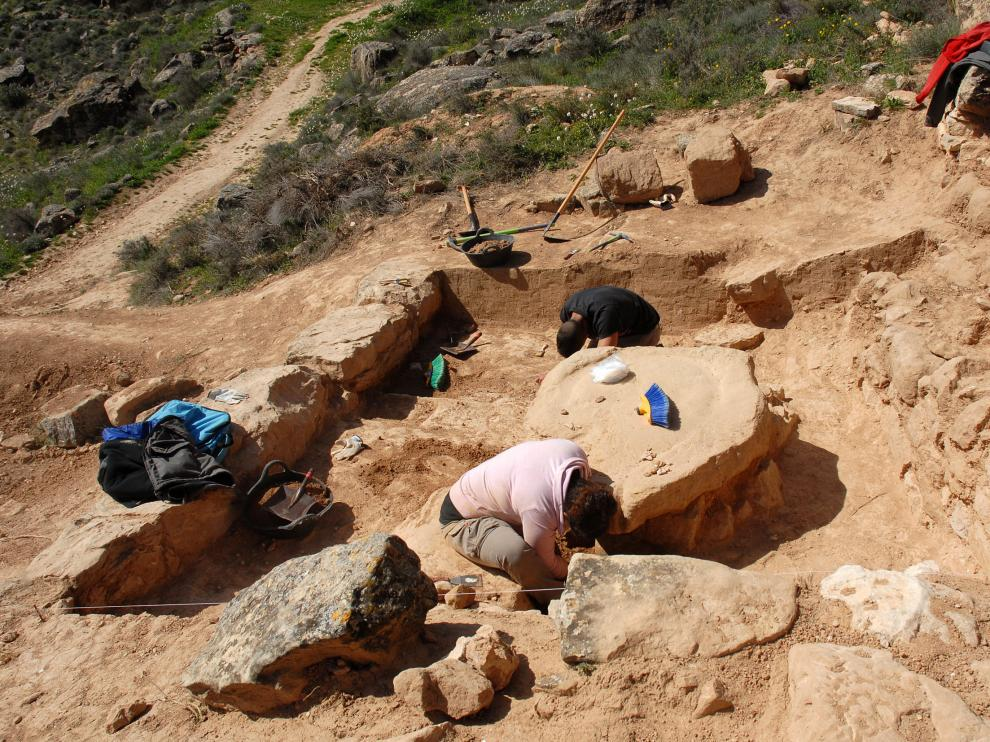 Excavaciones en el yacimiento de 'El Palao'.