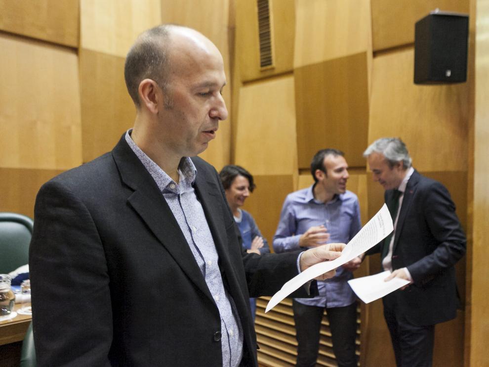 Carmelo Asensio, portavoz de CHA en el Ayuntamiento de Zaragoza, en una imagen de archivo.