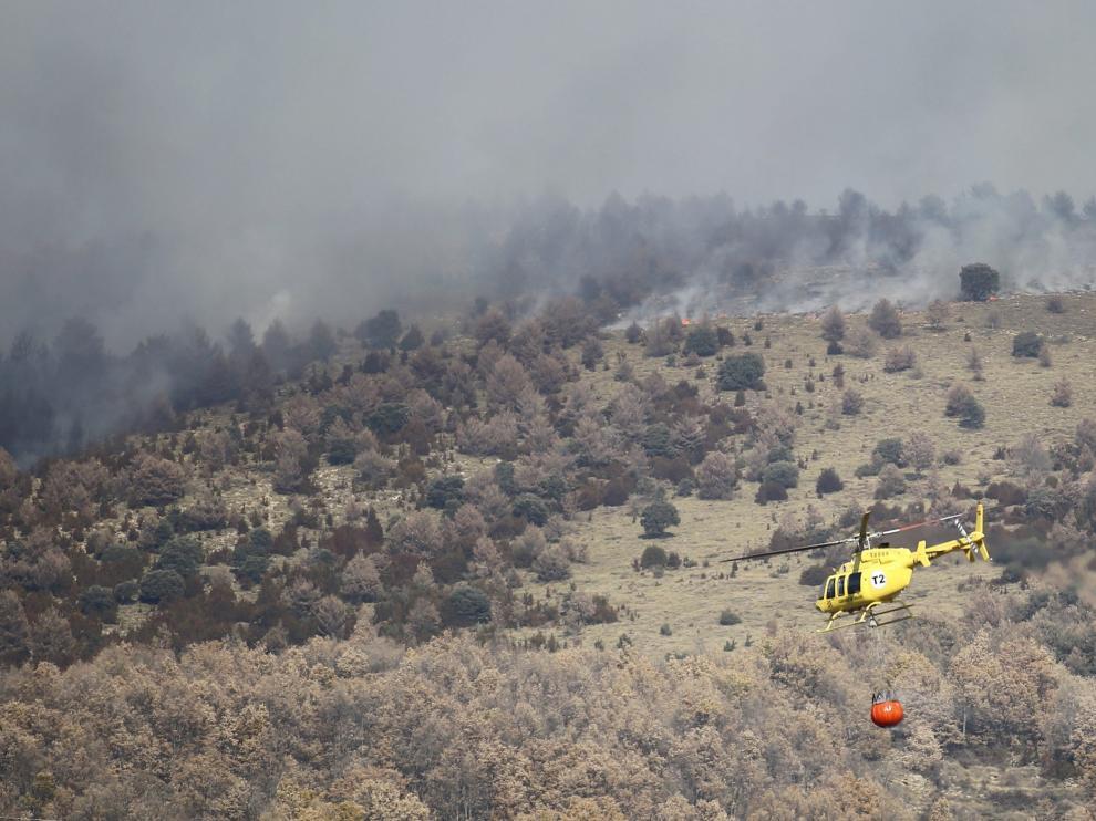 El matorral empieza a presentar valores de peligro de incendio en las zonas bajas y medias.