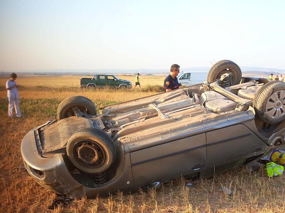 Una fallecida en la A-1307 en Belchite eleva a 5 las muertes en las carreteras aragonesas en agosto