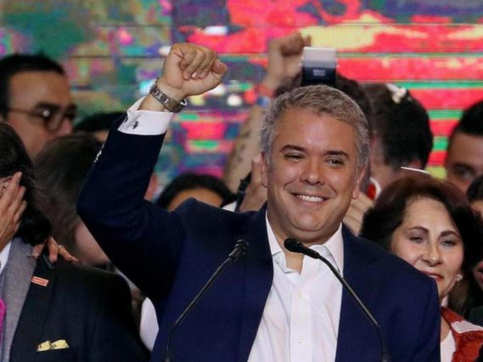 El recién elegido presidente de Colombia, Iván Duque.