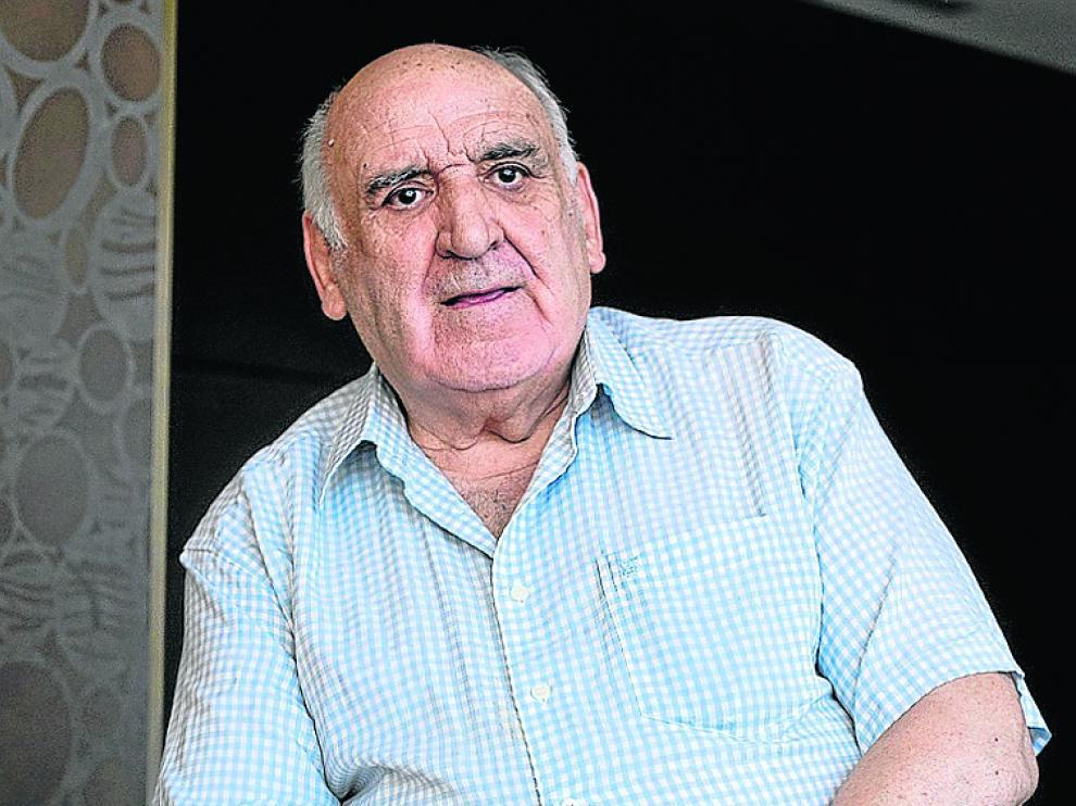 José Luis Yagüe, durante su reciente visita a Aragón.