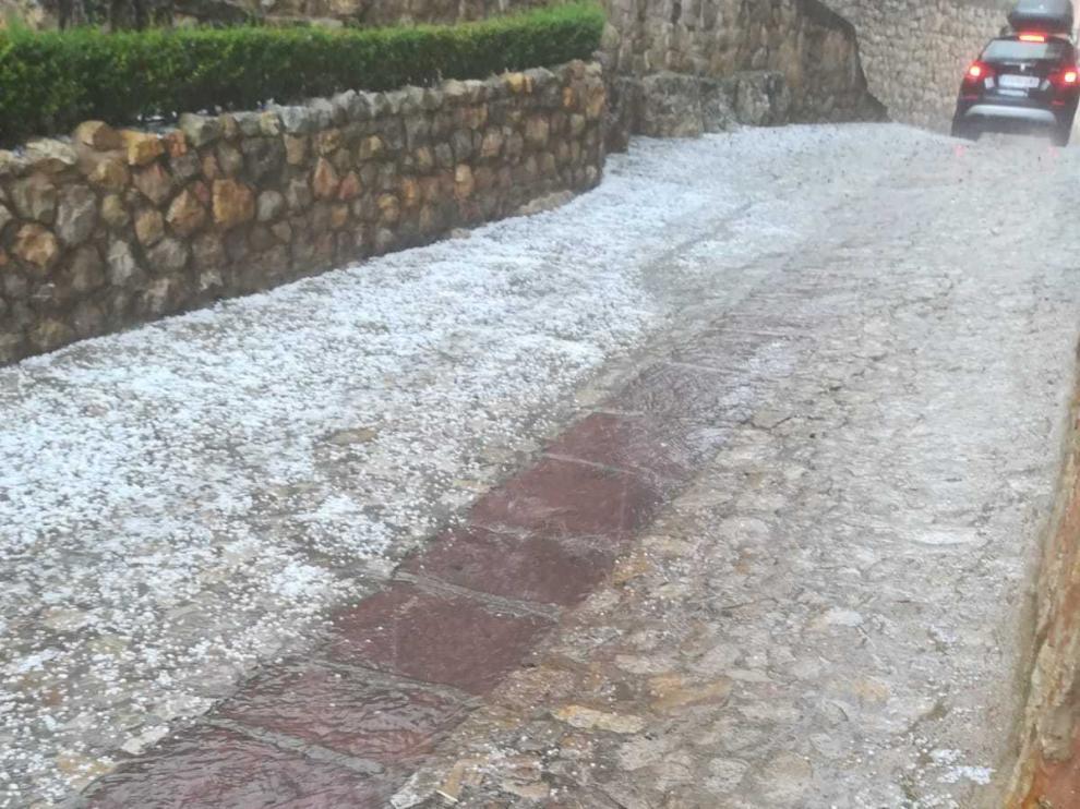 Granizada caída sobre Albarracín.